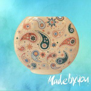 DISK lapos váza - megfestett kerámia