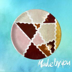 PTG - nagyméretű pizzás tányér MadeByYou-Alkotóműhely-Egyedi-kerámiafestés-Budapest